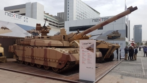 Nexter's UAE Leclerc MBT stands strong at the IDEX 2017 exhibition
