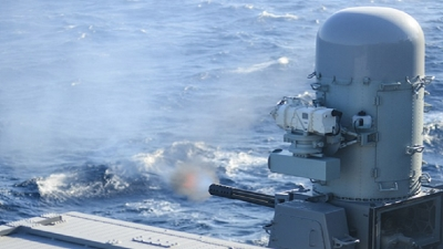 U.S. Navy conducts first live fire test with SeaRAM® recently installed on USS Carney
