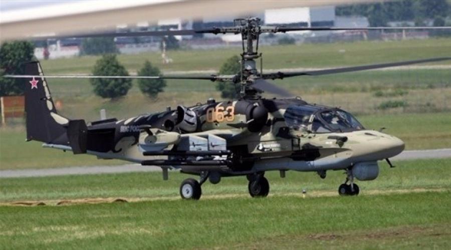 المروحيات الروسية كا-52 المخصص تصديرها لمصر تبدأ مرحلة الاختبار