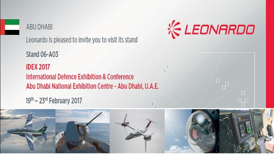 Leonardo exhibits at IDEX and NAVDEX, promoting a wide range of security, aerospace, and cyber solutions