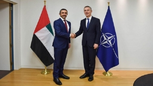 Abdullah bin Zayed and NATO Secretary-General discuss cooperation